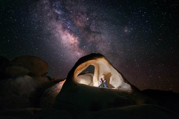 girl watching stars