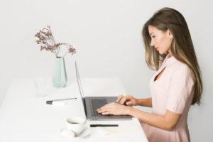 Girl working