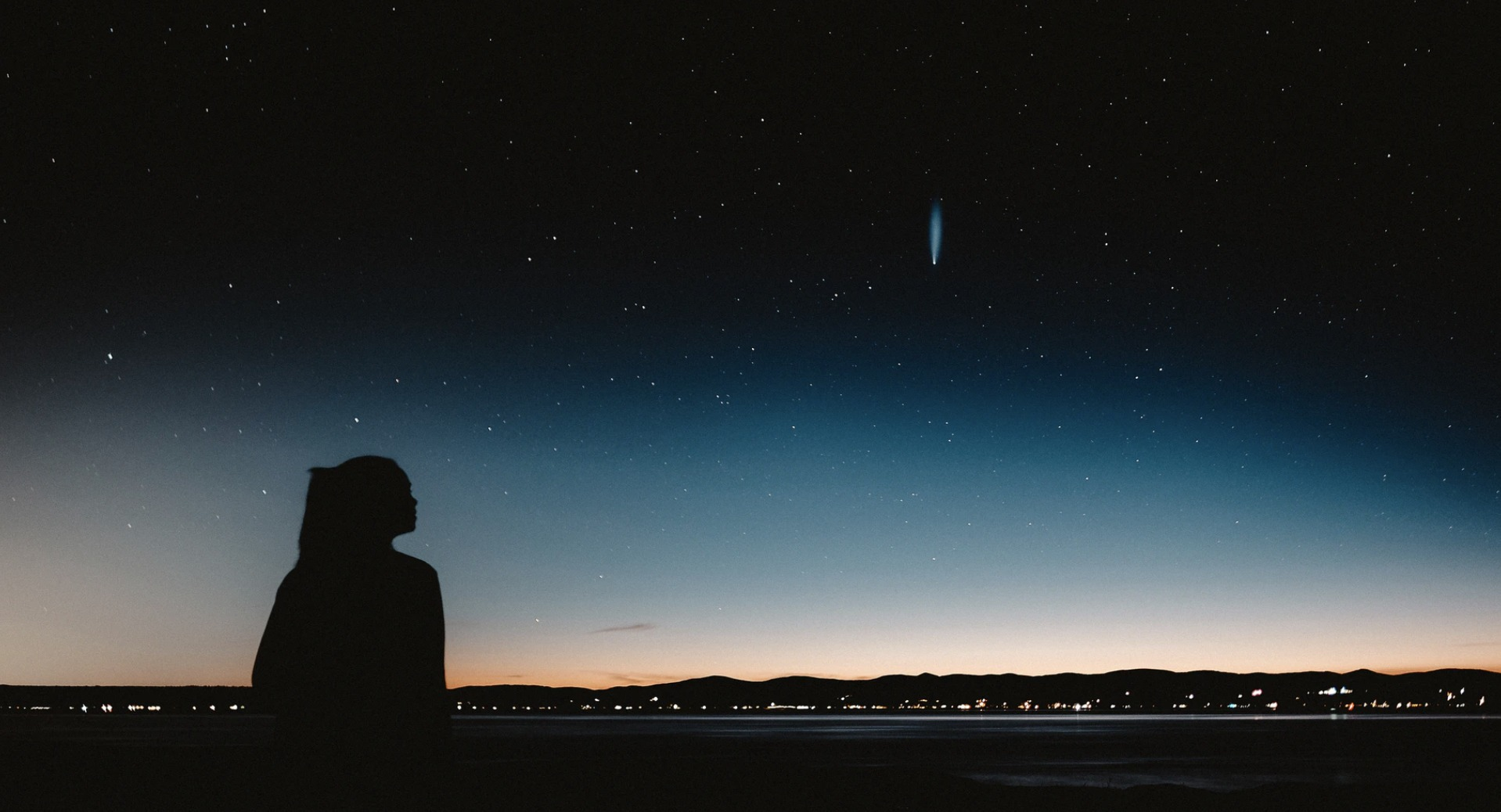 girl and a night sky
