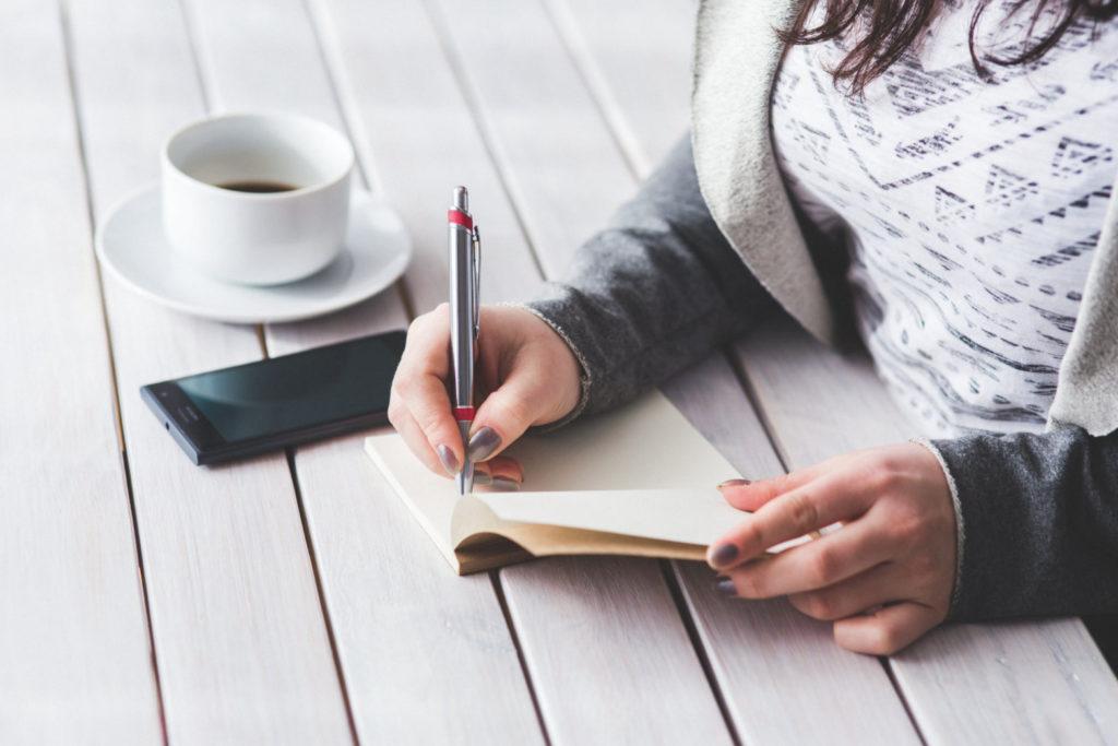 girl writing a list